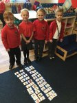 Matching rhyming words.