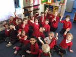 We supported anti bullying day by making wristbands.